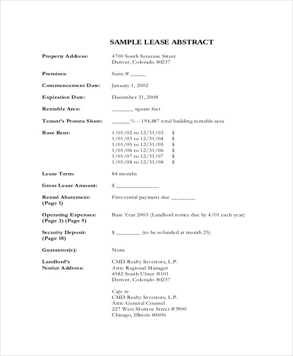 Lease Template 20 Free Word Pdf Documents Download Free