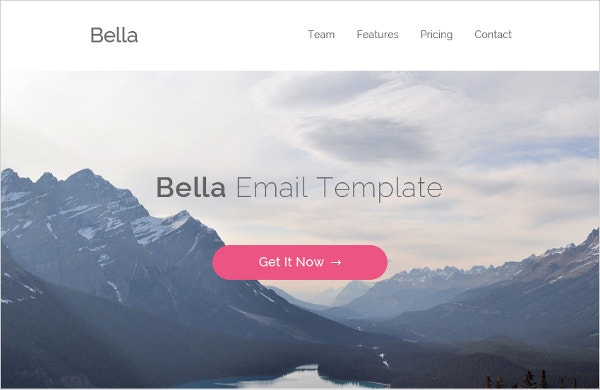 bella %e2%80%93 free psd and html email template