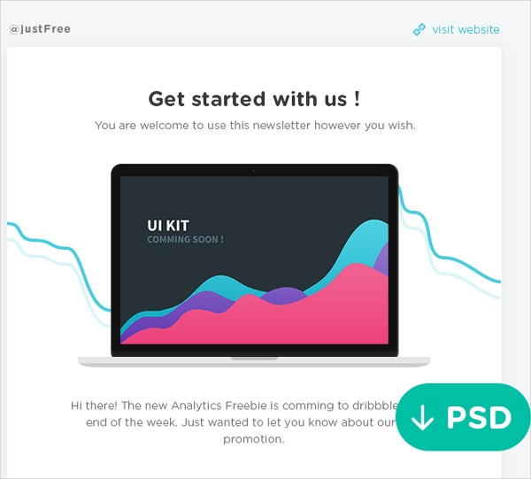 Newsletter Freebie PSD