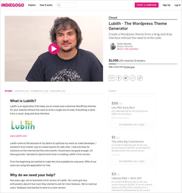 Indiegogo Builder