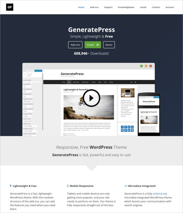 GeneratePress Builder