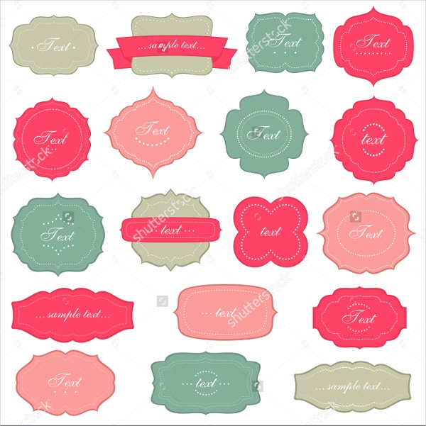 vintage labels set template