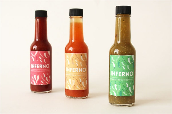 Sauce Label Template