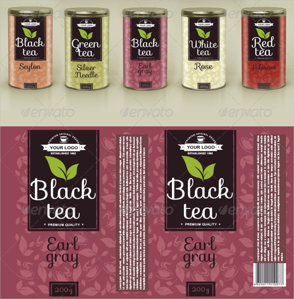 tea label template