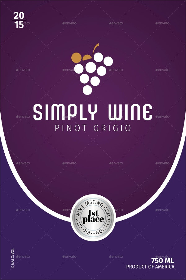 Wine Label Templates