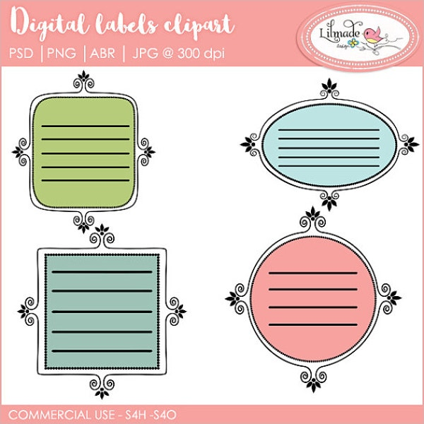 Digital label Templates