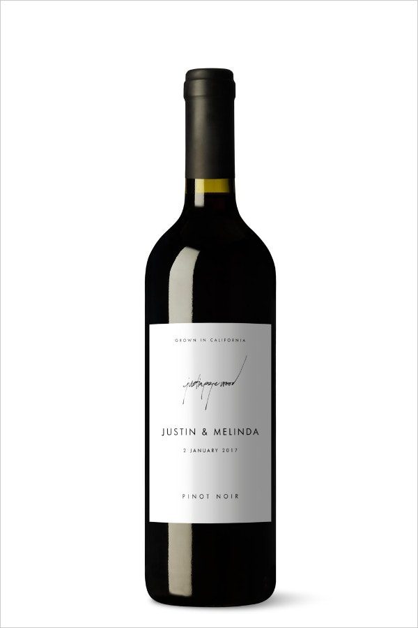 Minimalist Wine Label Template
