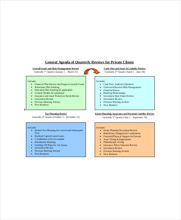general client meeting agenda template