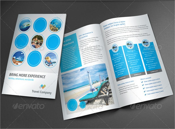 Travel Brochure Templates Free PSD AI EPS Format Download - Promotional brochure template