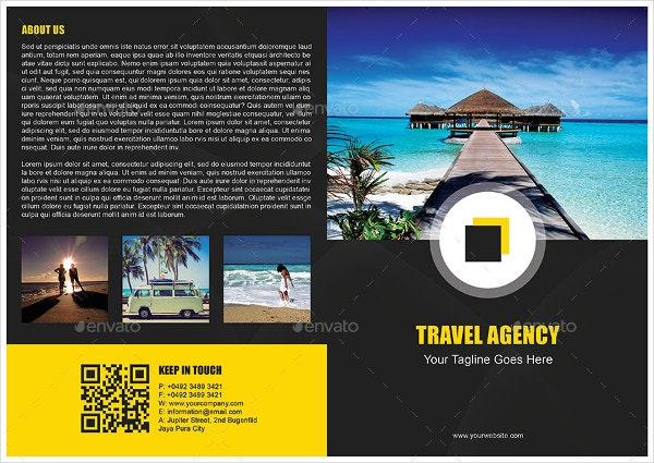 bi fold travel brochure template