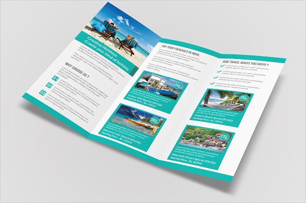 elegant travel tri fold brochure template