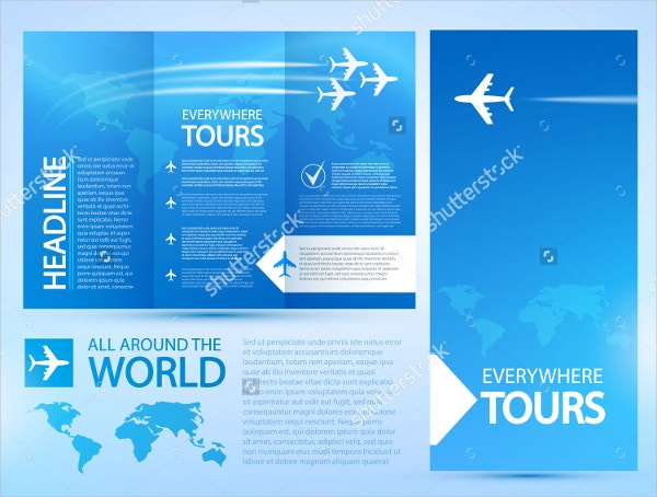 airplane travel brochure