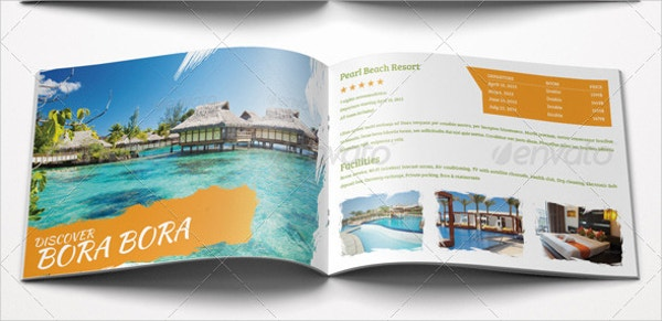 fun travel vacation brochure
