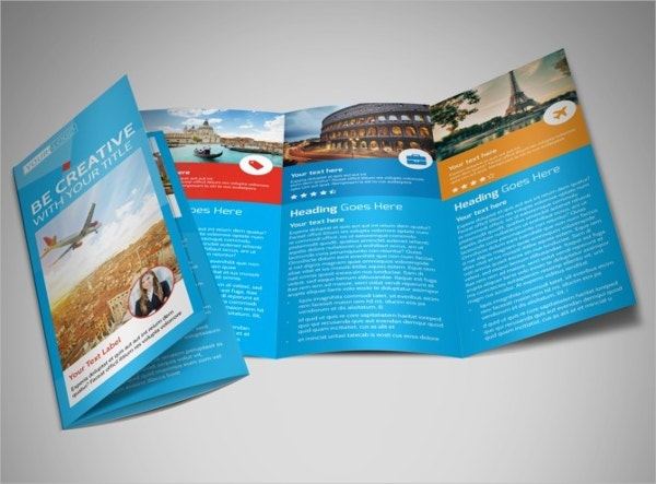 travel agents tri fold brochure template