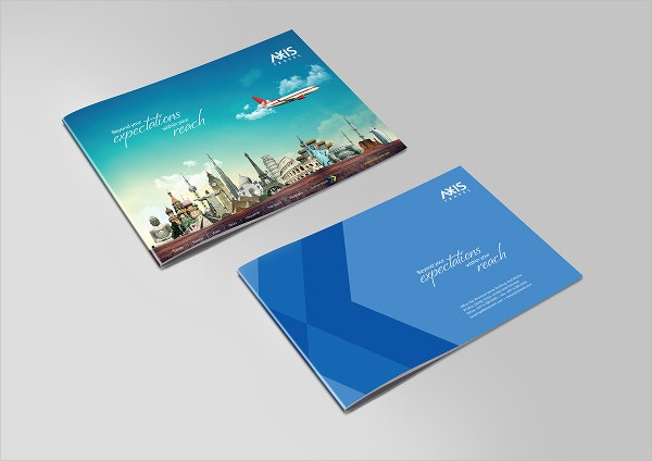 Blue Axis Travels Brochure Template
