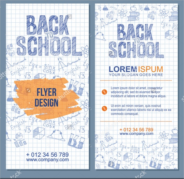 school flyer vector