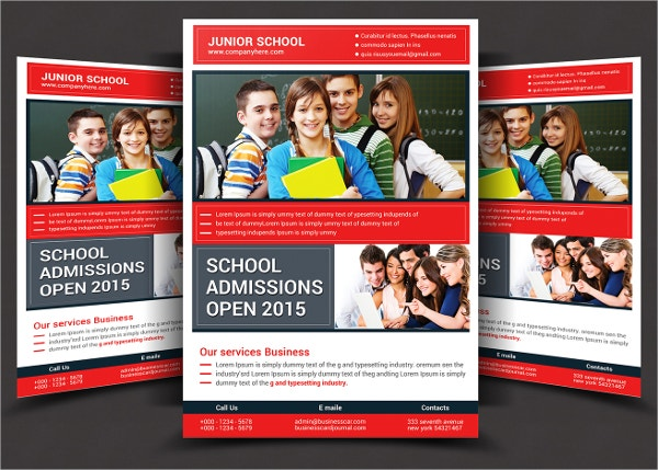 School Flyer Print Templates