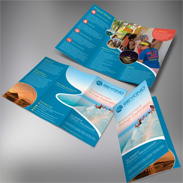 Student Travel Trifold Brochure