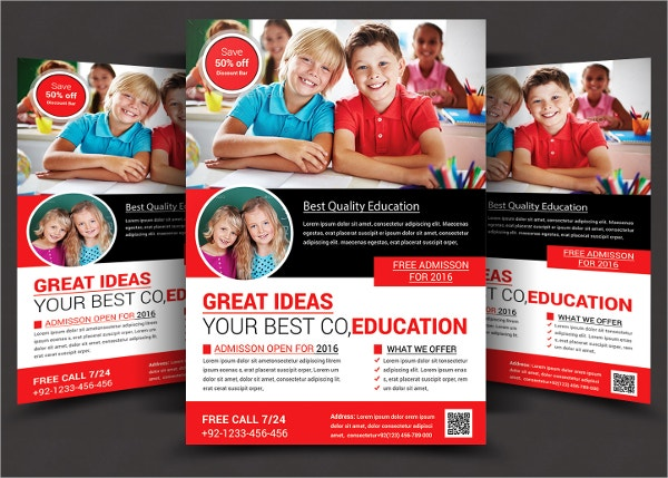 School Flyers Free PSD AI EPS Format Download Free - School brochure template free