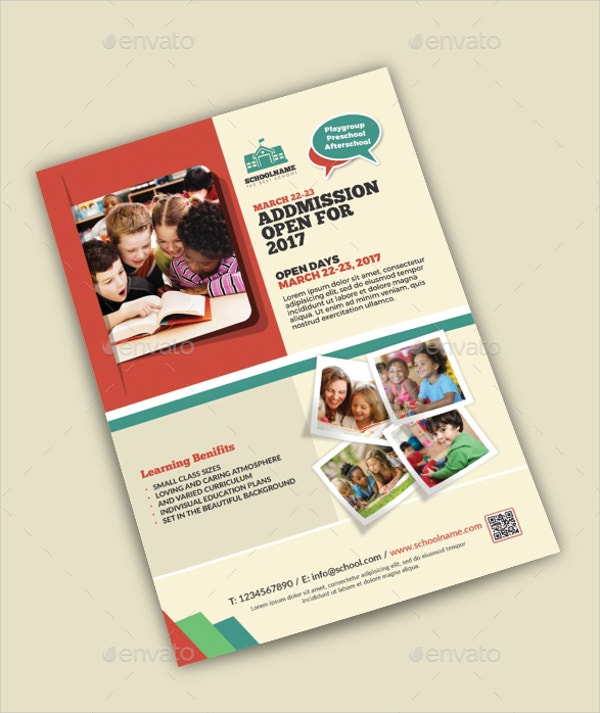 school promotion flyer template