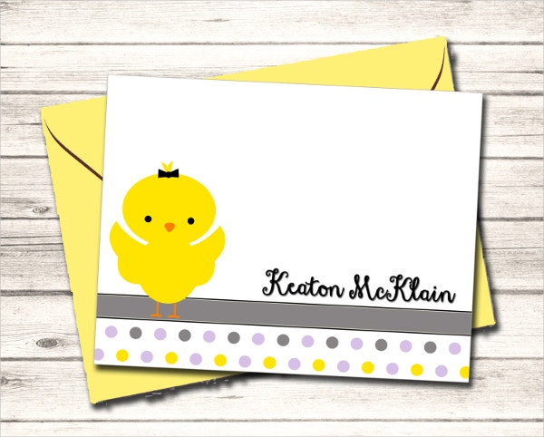 Cool Chick Thank You Card Template