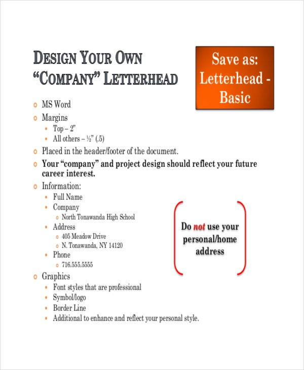 Stock Layouts Letterhead Template