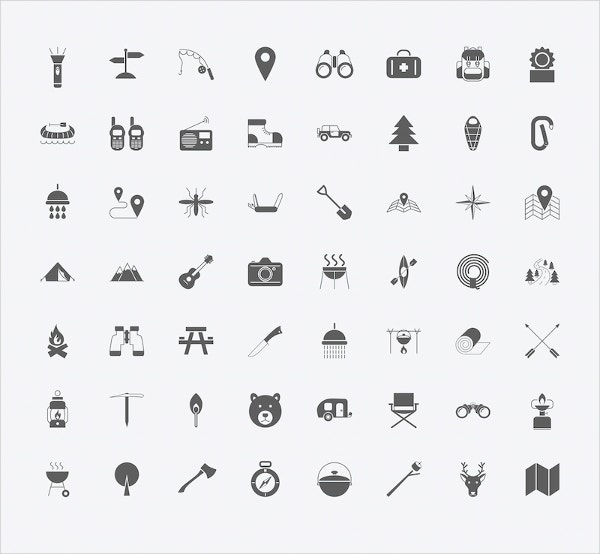 Camping Icons Set Download