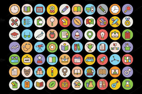 education icons set download