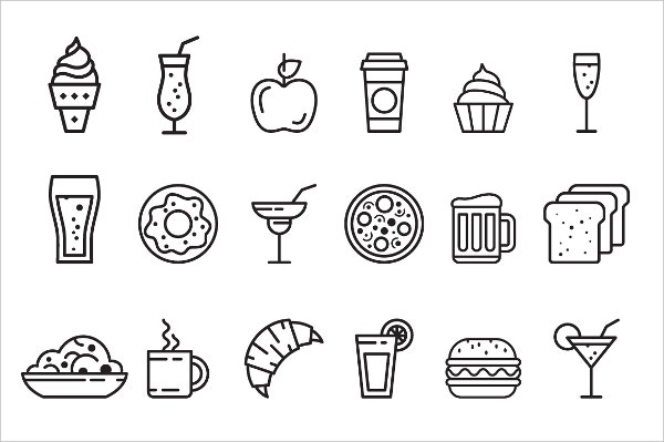 food icon set download