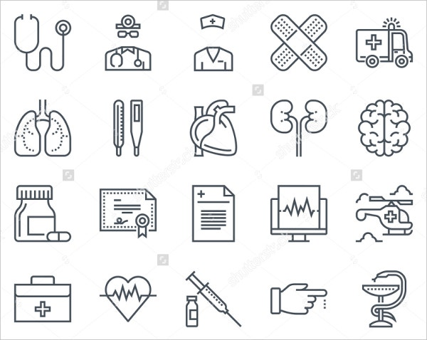 medical icon set suitable for info graphics