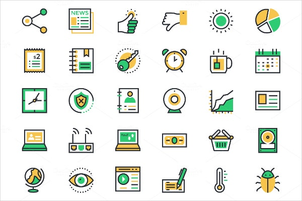 user interface and web icons set