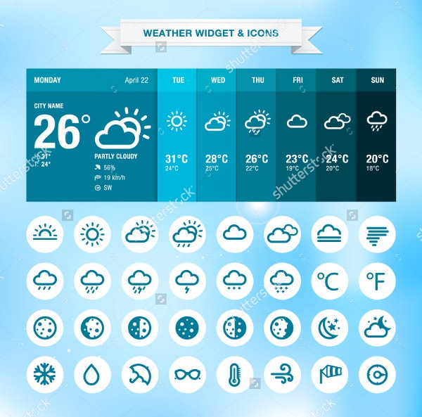Weather Widget and Icons Sets