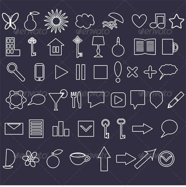 White Icons Set Download