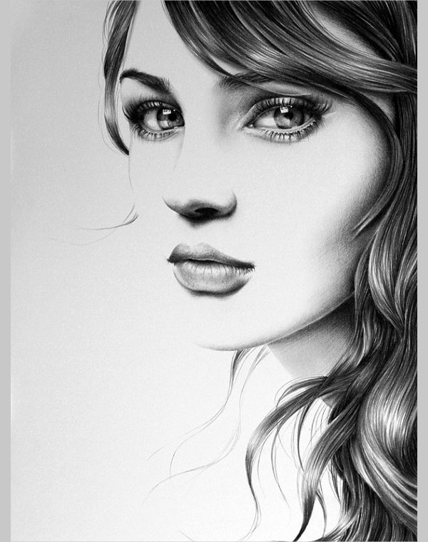 Dinding eyes pencil drawing fine art