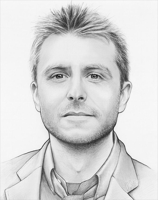 Pencil illustration of Chris Hardwick Fine Art