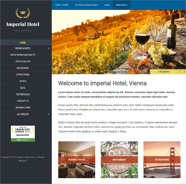 Directory Holiday & Travel WordPress Theme $129