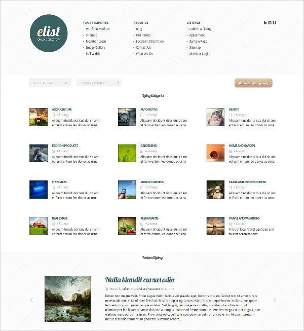 Simple Directory WordPress Theme