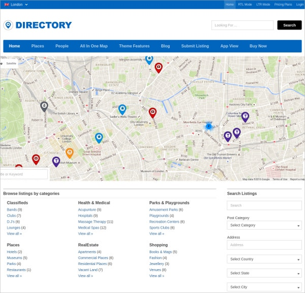 Popular Directory WordPress Theme