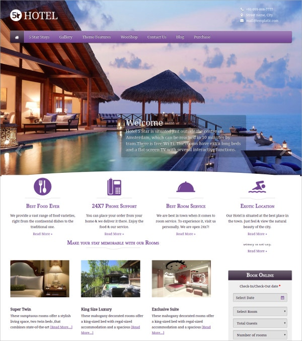 Hotel Directory WordPress Theme $64