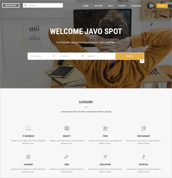 Multipurpose Directory WordPress Theme $59