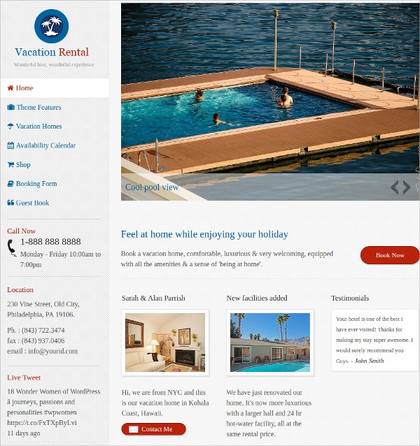 vacation Rental Directory WordPress Theme