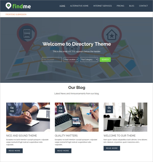 Premium Directory WordPress Theme
