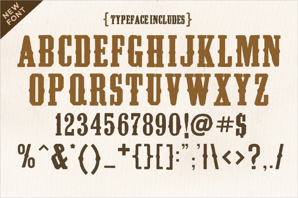 13 Cowboy Fonts Free Otf Ttf Format Download Free