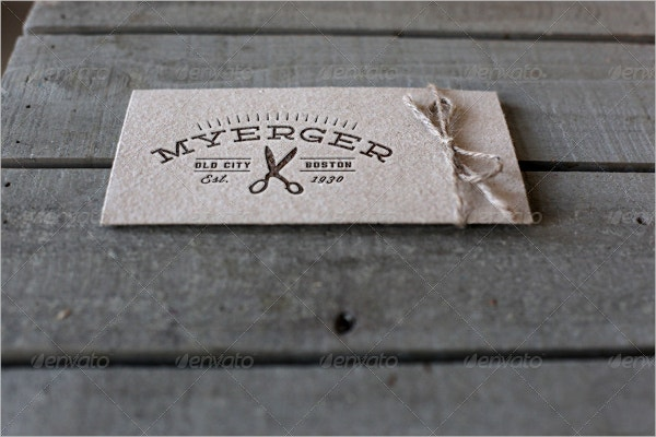 modern engraved business card