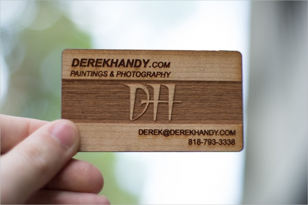 Laser Engraved Wood Business Card