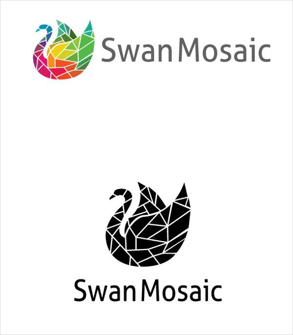 Mosaic Swan Logo