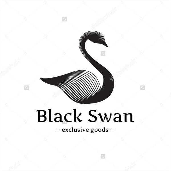 Minimalistic Swan Logo