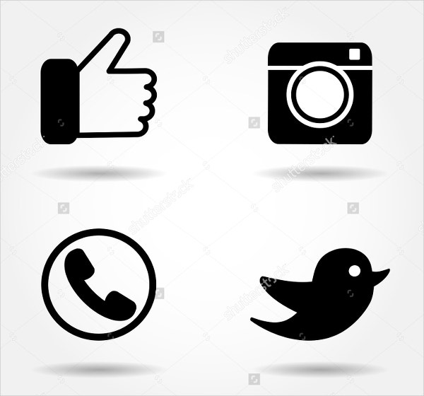 social media vector button