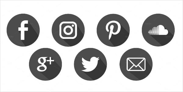 Social Media Flat Buttons