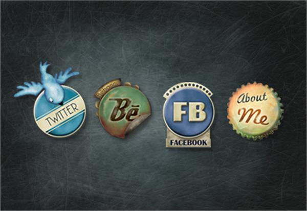 Portfolio Social Media Buttons